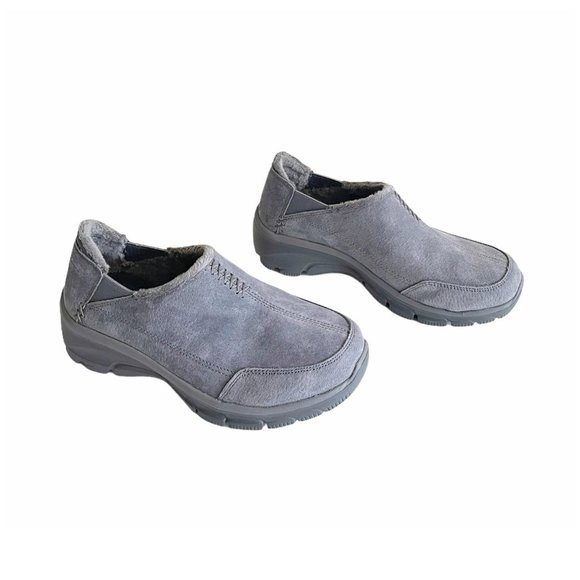 Skechers Hive Gray Suede Relaxed Fit Sneaker Sz 6